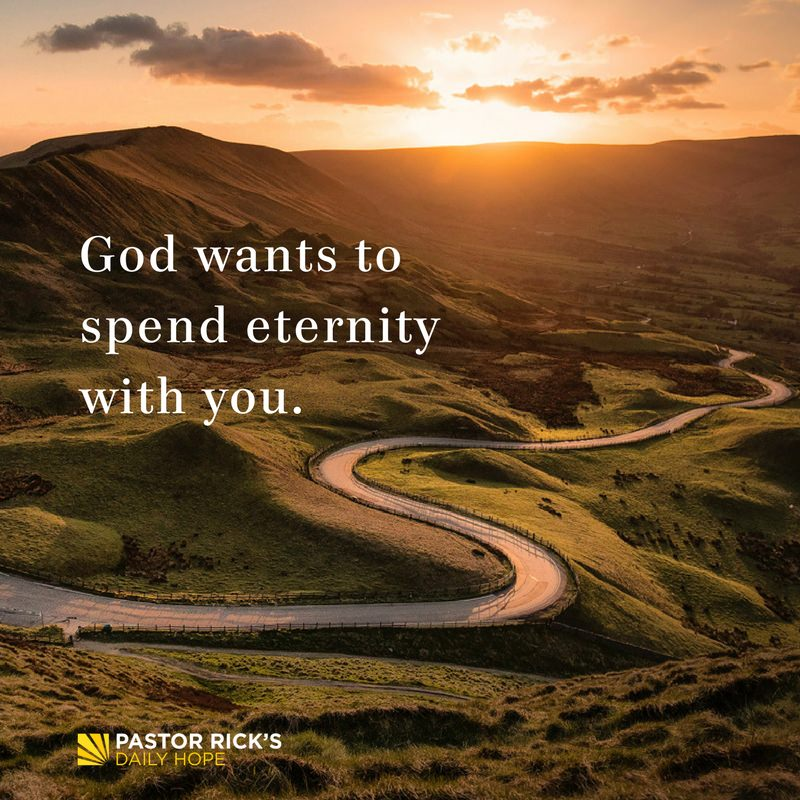 God Wants to Spend Eternity with You