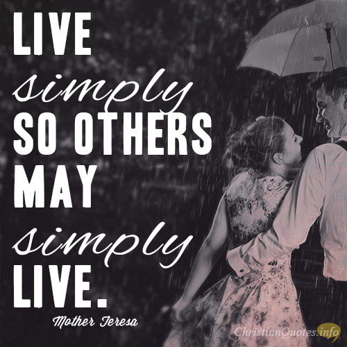 WAYS TO LIVE SIMPLY