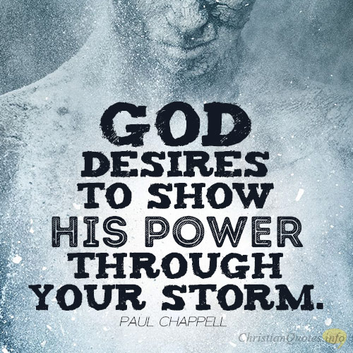 THINGS GOD DESIRES IN OUR STORMS