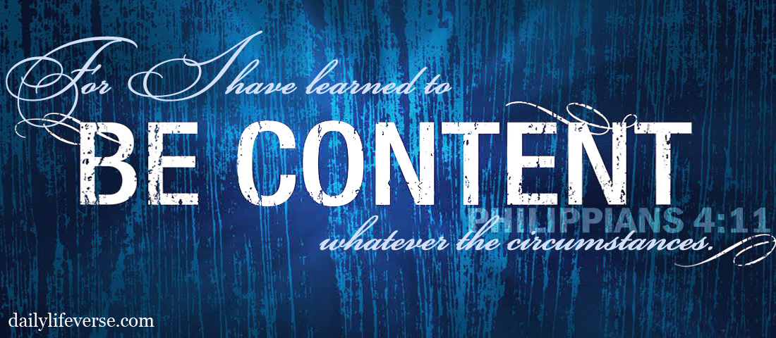 Slow Down By Learning Contentment