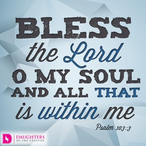 Blessing the Lord