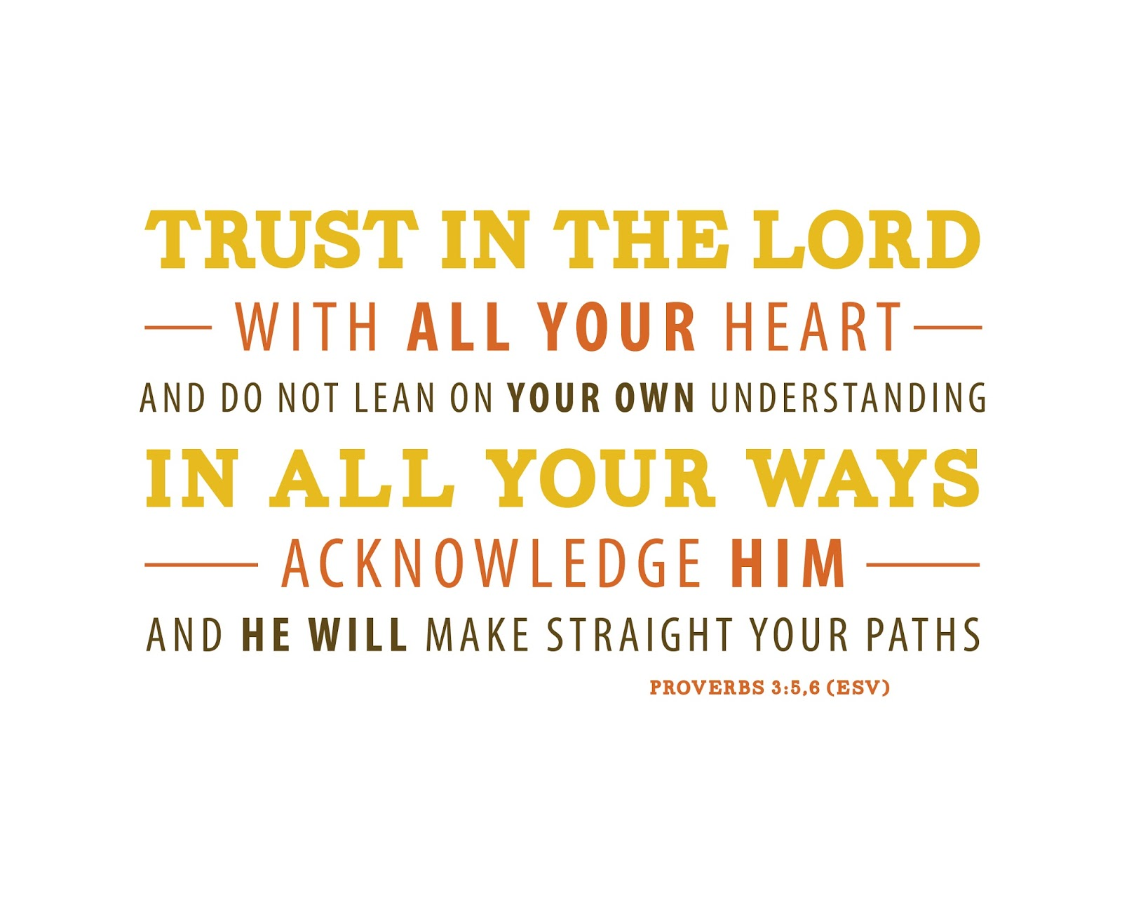 The Power of Trusting the Lord with All Your Heart