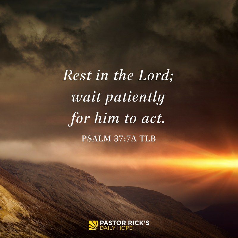 Rest, and Trust God's Timing