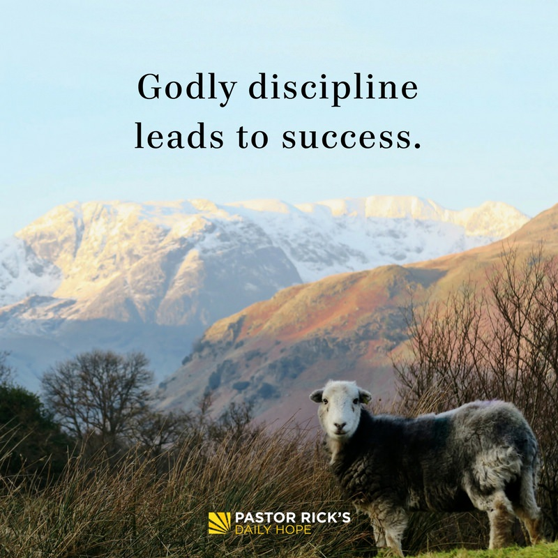 Godly Discipline Leads to Success