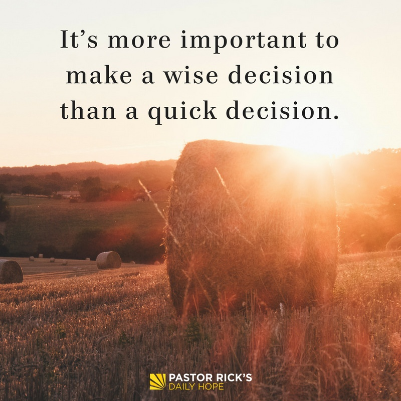 Six Steps for Biblical Decision-Making