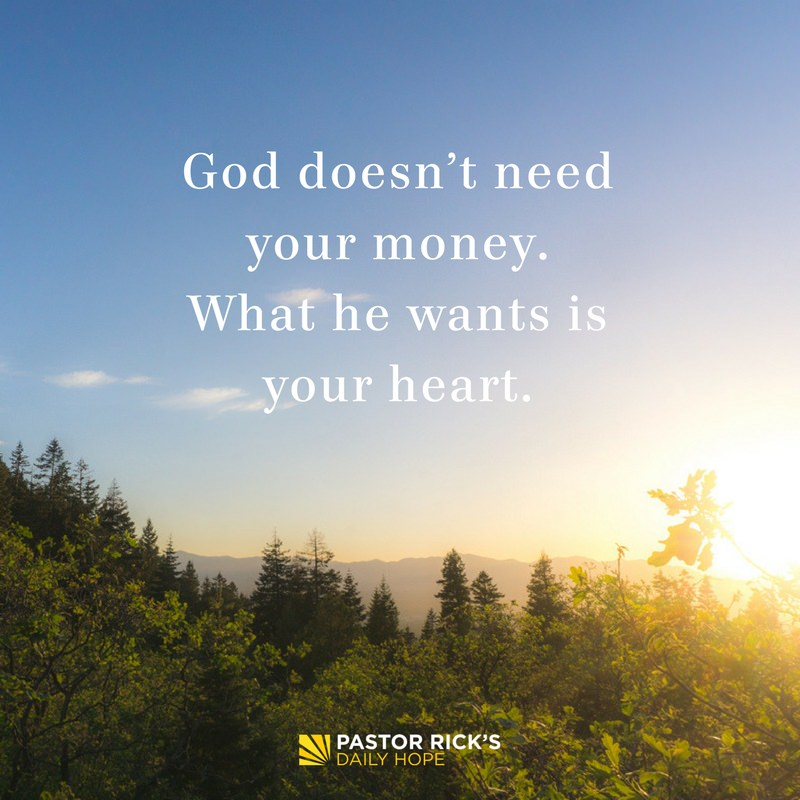 Giving and Faith Go Together