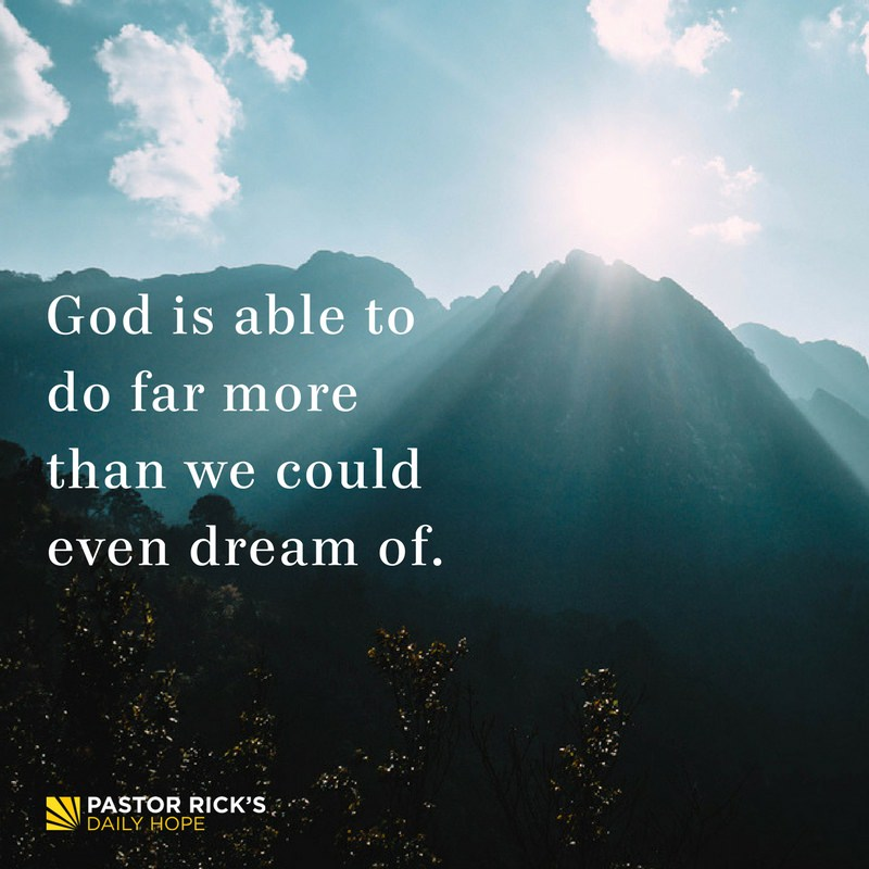 What Faith Does to Your Dreams