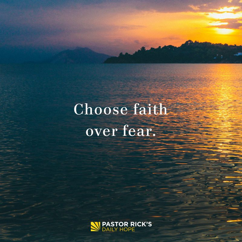 Choose Faith Over Fear