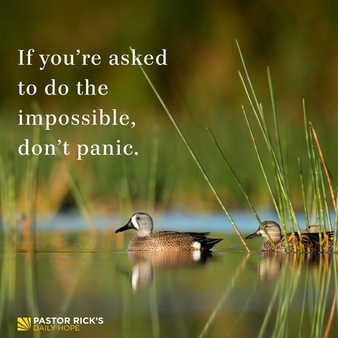 If You're Asked to Do the Impossible, Don't Panic