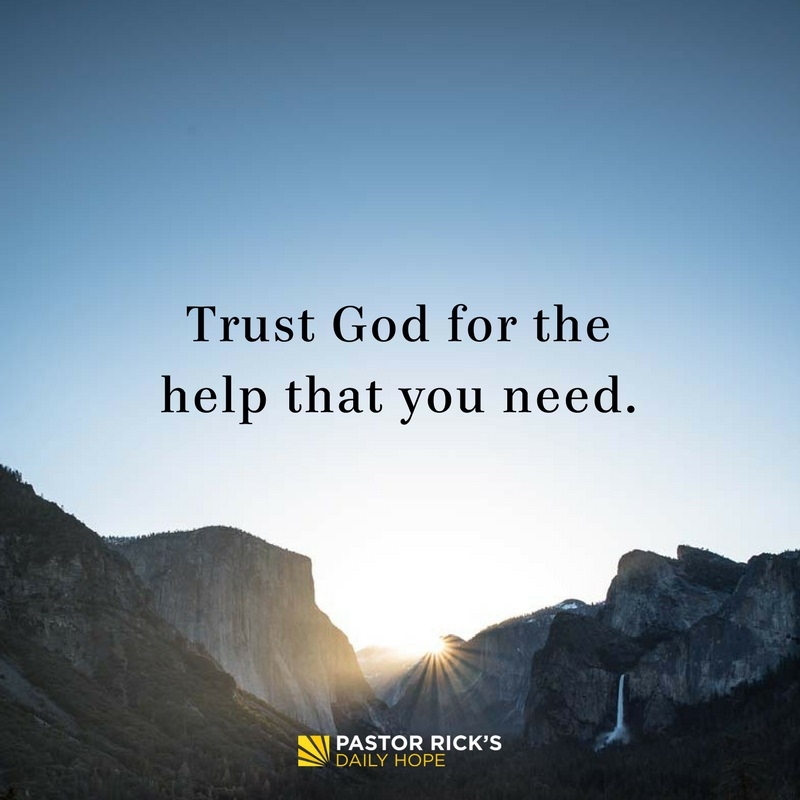 Trust God for the Help You Need