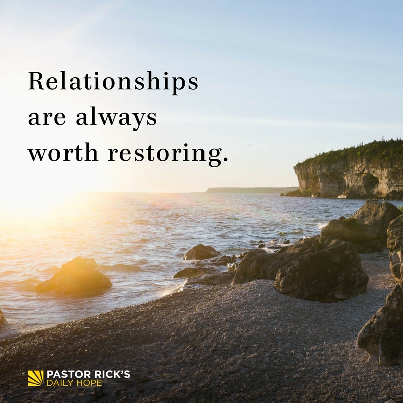 Relationships Are Worth Restoring