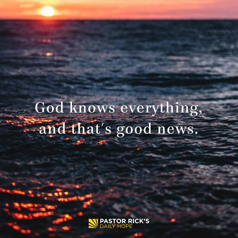 God Knows Everything, and That's Good News
