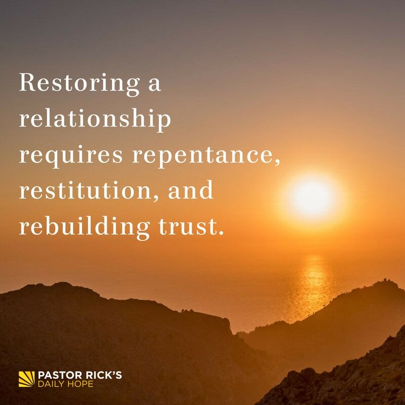 Requirements of Restored Relationship