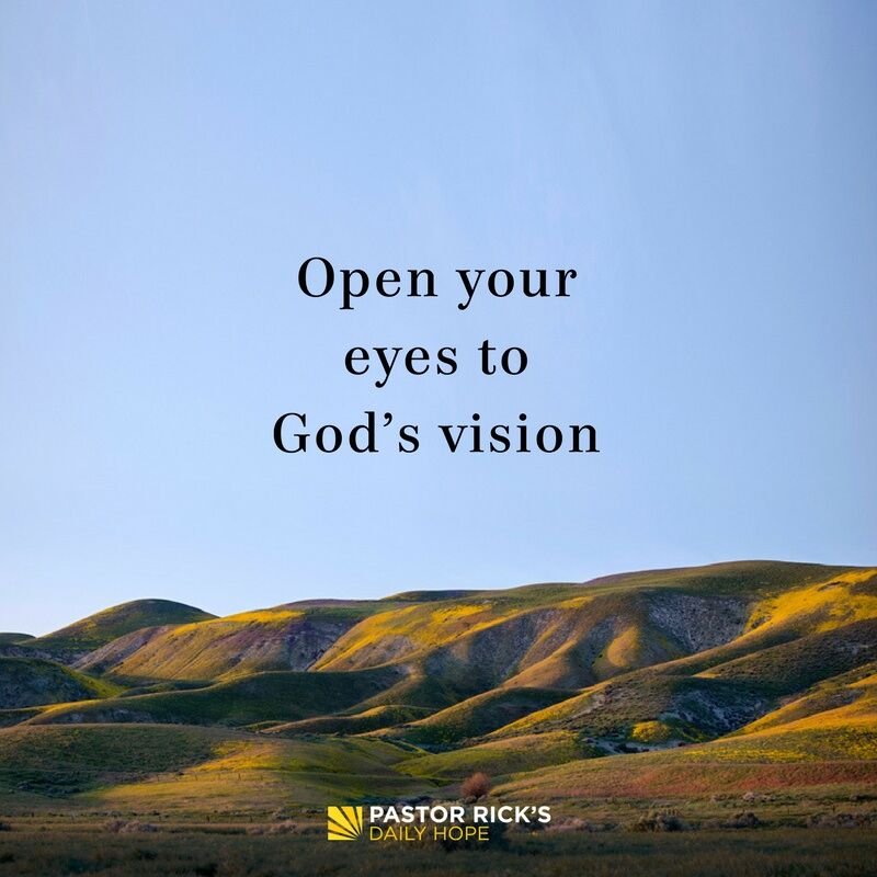 Open Your Eyes to God's Vision