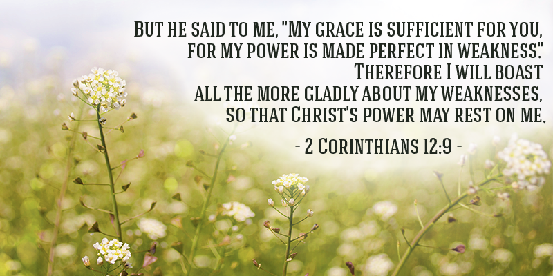 God's Grace when we need it Most