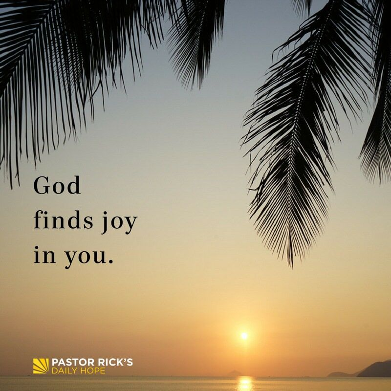 God Finds Joy in You