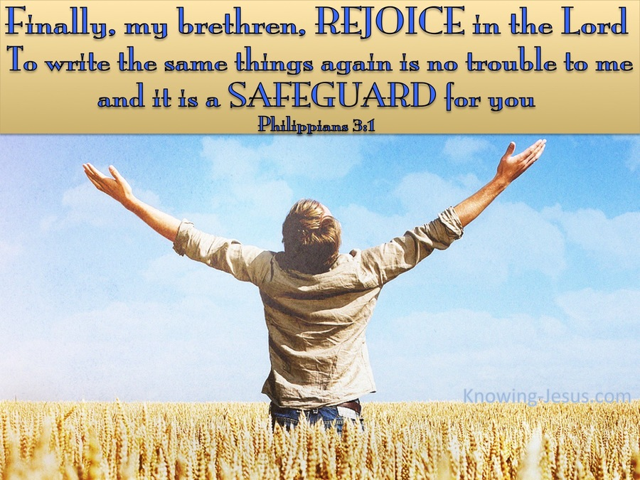 Cause for Rejoicing